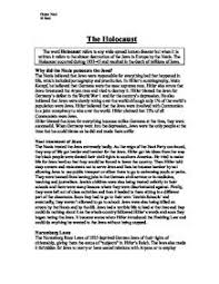 facts about the holocaust   gcse history   marked by teacherscom the holocaust