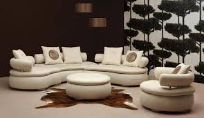Living Room With Sectional Sofa Round Sectional Sofa For Unique Seating Alternative Traba Homes