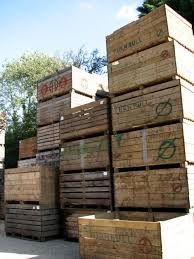 diffe types of wooden crates