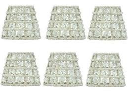 small clip on lamp shades set of six crystal chandelier lamp shades mini clip on shades