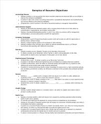 Resume Objective Samples Magnificent 40 Resume Objective Samples Examples Templates Sample Templates