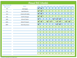 Free Printable Bill Payment Schedule Editable Bill Payment Schedule Organizing Homelife