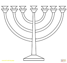 Menorah Coloring Pages Free Free Coloring Books