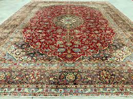 10x13 antique red persian rug hand knotted rugs wool blue gold green brown 9x13