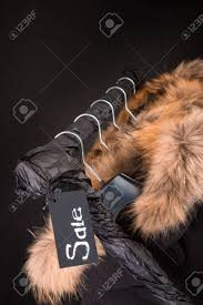 Coat Rack Black Friday A Lot Of Black Coats Jacket With Fur On Hood Hanging On Clothes 76