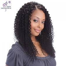 modern show hair indian curly virgin hair lace front human hair wigs