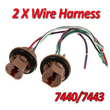 tail light wiring harness reviews online shopping tail light 7440 7443 bulb socket brake turn signal light harness wire led pig tail plug t20