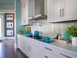 coastal kitchen with a white subway tile backsplash