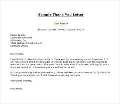 11 Thank You Letters To Recruiter To Download For Free Sample