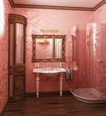 ... stylish-modern-pink-coloured-bathroom-interior-rendering ...
