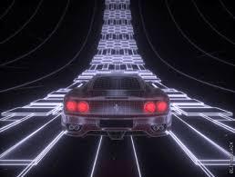 Glitch Black Neon Ferrari