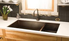 hammered copper kitchen sink: kitchen towel bar under sink copper kitchen sinks undermount