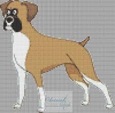 Small Boxer Dog Cross Stitch Chart Advanced Cross Stitch