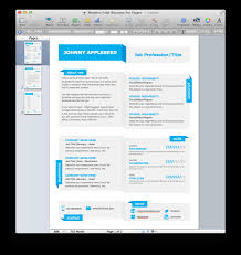Resume Template Macbook Pages Templates Apple For 89 Astonishing
