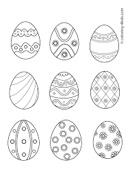 Russian Easter Eggs Coloring Pages Eggs Russian Printable