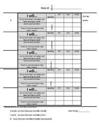White Incentive Chart Student Behavior Incentive Chart Editable
