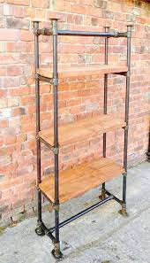 industrial themed furniture. industrial style free standing scaffold shelving unit wwwreclaimedbespokecouk themed furniture