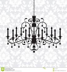 vintage chandelier clipart 1