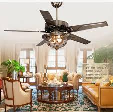 4 dining room fan chandelier antique copper chandelier fan light simple fashion 48inch iron leaf fan