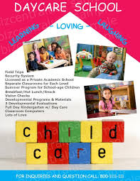 Child Care Flyer Template Home Daycare Flyers Ninja