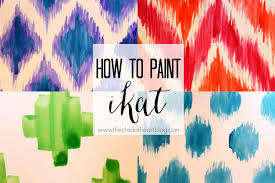 Paint Patterns Awesome How To Paint Ikat Patterns YouTube