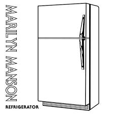 refrigerator clipart black and white. Interesting Black Clip Art Kitchen Appliances For Refrigerator Clipart Black And White A