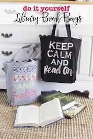 diy library book bags