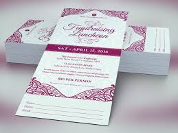 Fundraising Luncheon Ticket Template On Behance