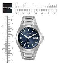 citizen citizen eco drive titanium bm7170 53l titanium view dimensions