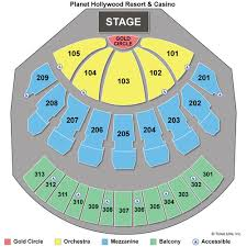 Zappos Theater Seating Chart View Zappos Theater At Planet Hollywood Seating Chart Www