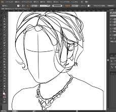 イラストレーターで描く似顔絵グラデーションメッシュの使い方藤原
