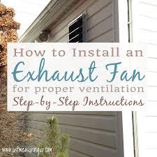 Installing Bathroom Fan Amazing How To Install An Exhaust Fan Easy DIY Garage Ventilation System