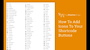 How To Add Icons To Your Shortcode Buttons Hd