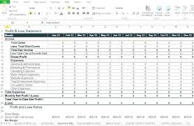 Loss And Profit Form Loss And Profit Form Simple Excel Template Business Project