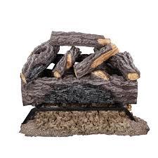 charred river oak vented natural gas log set