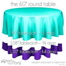 what size tablecloth for 5ft round table tablecloth for round table sizing tips wedding and what