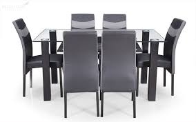 royaloak micra 6 seater dining set with tempered glass top and rh royaloakindia com