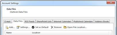 Set default calendar - Outlook