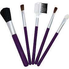 exceptional because you are women set 5 piece travel makeup brush set