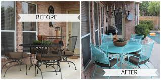 painting wrought iron furniture. Great Painting Patio Furniture Crafty Texas Girls Painted Outdoor Decor Inspiration Wrought Iron G