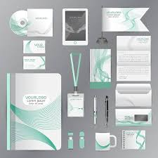 Company Portfolio Template Stunning White Identity Template With Green Origami Elements Vector Company