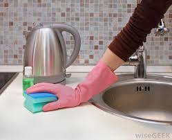 best way to clean bathroom. Trendy Woman Wearing Pink Glove Cleaning Near Sink Have Best Way To Clean Bathroom