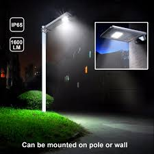 Dawn To Dusk Post Light 1600lm Commercial Solar Street Light Outdoor All In One Post
