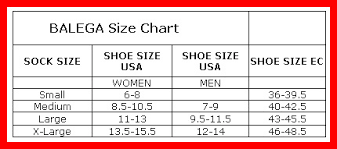 Balega Socks Size Chart Balega Socks Size Chart Image Sock And Collections