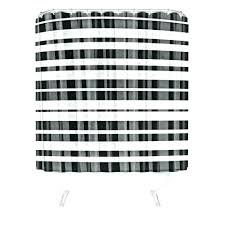 plaid shower curtain country blue