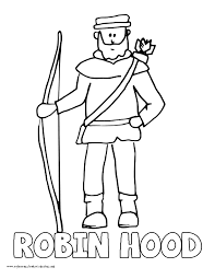 Small Picture World History Coloring Pages Printables Robin Hood Robert