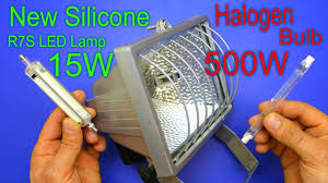 500w Halogen Work Light Bulbs Saves Energy By Replacing The Old Halogen Bulb With The New Silicone R7s Led Lamp