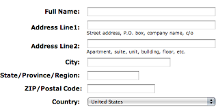 Best Design Order Layout For Mailing Address Form User Experience