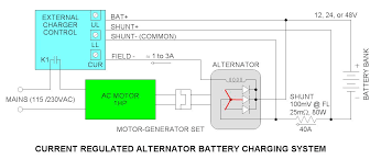 current limited alternator battery charger control current limited alternator battery charger system