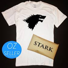 House Stark T Shirt Design House Stark Direwolf T Shirt With Stark Packaging Game Of Thrones Winterfellfunny Free Shipping Unisex Casual Tshirt Top